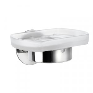 Smedbo Time Miska na mydlo s držiakom leštený chróm / matné sklo YK342