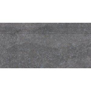 RAKO KAAMOS schodovka tmavá sivá 30x60 DCPSE588