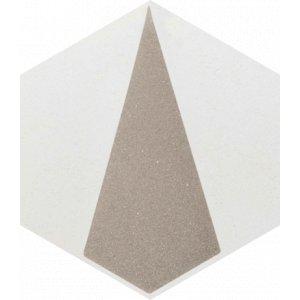 Paradyz Esagon 17,1 x 19,8 x 0,75 cm concrete inserto A matný I198X1711ESAGSICOA Obklad
