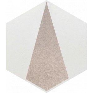 Paradyz Esagon 17,1 x 19,8 x 0,75 cm concrete inserto C matný I198X1711ESAGSICOC Obklad