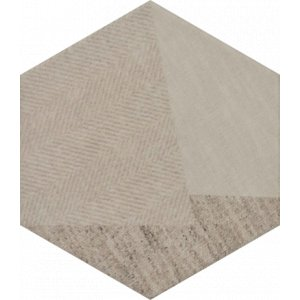 Paradyz Esagon 17,1 x 19,8 x 0,75 cm linum beige inserto C matný I198X1711ESAGBELINC Obklad