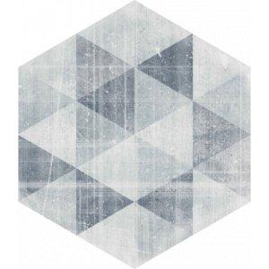 Paradyz Hexx universum 26 x 26 x 1 cm motív grigio heksagon matný ZH260X2601HEXXMOGG Dlažba