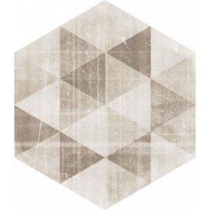 Paradyz Hexx universum 26 x 26 x 1 cm motív crema heksagon matný ZH260X2601HEXXMOCR Dlažba