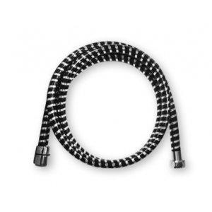 Mereo Sprchová hadica čierna/chróm CB110B