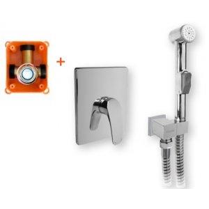 Mereo Eve Baterie podomítková s bidetovou sprchou chróm CBV60105BS