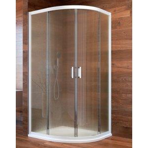 Mereo Lima Sprchovací kút štvrťkruhový biely profil CK608B02K