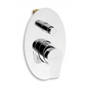 Novaservis NOBLESS VISION X Vaňová a sprchová podomietková batéria s prepínačom chróm, 220 mm 42050R.0