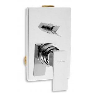 Novaservis TITANIA CUBE Vaňová a sprchová podomietková batéria s prepínačom chróm 98850R.0