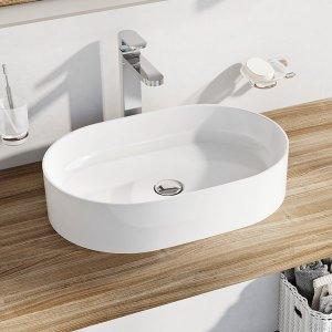 Ravak Ceramic Keramické umývadlo Ceramic Slim O 55 x 37 x 12 cm XJX01155001