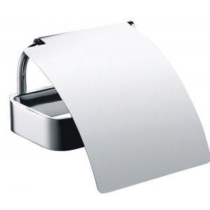 Bemeta SOLO Držiak toaletného papiera s krytom 128x64x130 mm, chróm 139112012