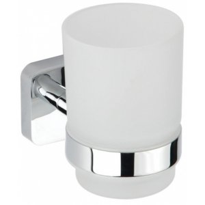 Bemeta TASI Držiak zubných kefiek sklenený 67x96x107 mm, chróm 154110012