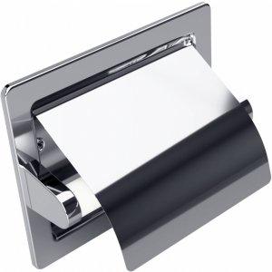 Bemeta Hotelové vybavenie Držiak toaletného papiera vstavaný 155x130x80 mm,lesk 105112121