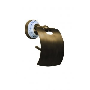 Bemeta KERA Držiak toaletného papiera s krytom 136x156x95 mm, bronz 144712017