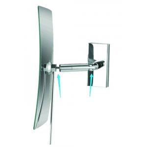 Bemeta Kozmetické zrkadlá Kozmetické zrkadlo jednostranné, hranaté 130x245x130 mm, chróm 116201222