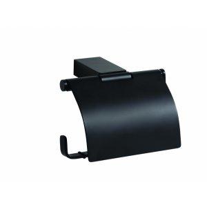 Bemeta NERO Držiak toaletného papiera s krytom 130x95x90 mm, čierna 135012010