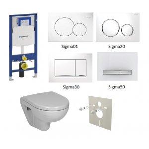 WC set Geberit Duofix +WC Jika Lyra Plus + sedadlo + tlačidlo + izolačná podložka
