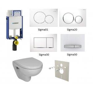WC set Geberit Kombifix +WC Jika Lyra Plus+ sedadlo + tlačidlo + izolačná podložka
