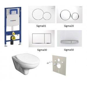 WC set Geberit Duofix +WC Jika Zeta + sedadlo + tlačidlo + izolačná podložka