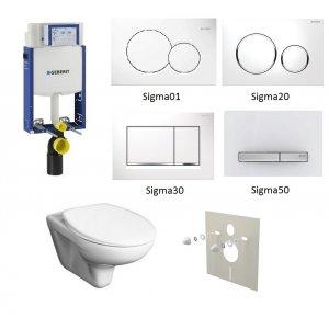 WC set Geberit Kombifix +WC Jika Zeta+ sedadlo + tlačidlo + izolačná podložka