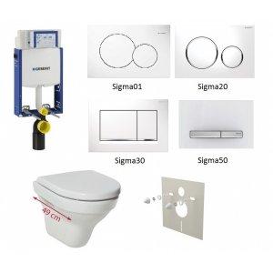 WC set Geberit Kombifix +WC Jika Tigo + sedadlo + tlačidlo + izolačná podložka