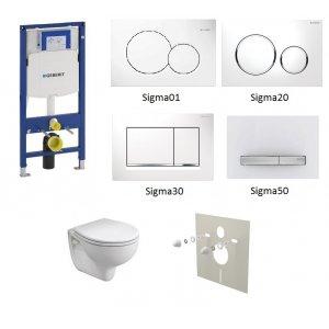 WC set Geberit Duofix +WC Kolo Rekord + sedadlo + tlačidlo + izolačná podložka