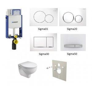 WC set Geberit Kombifix + WC Kolo Rekord + sedadlo + tlačidlo + izolačná podložka