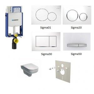 WC set Geberit Kombifix +WC Kolo Traffic RIMLESS + sedadlo + tlačidlo + izolačná podložka