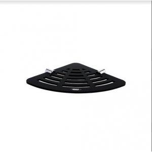 Nimco Nava Rohová polička chróm – čierny mat NA X211 (NAX211)