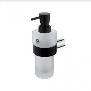 Nimco Nava Dávkovač tekutého mydla chróm – čierny mat