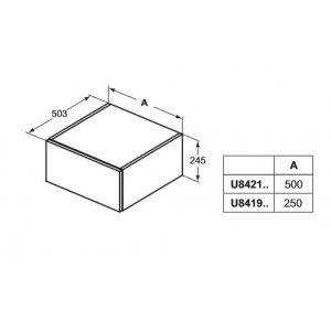 IDEAL Standard Adapto Nástenná skrinka Lesklý biely lak