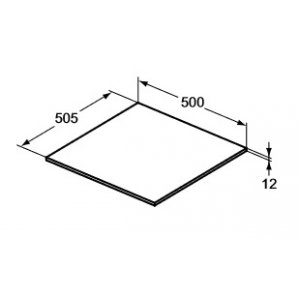 IDEAL Standard Adapto Vrchná doska 500 mm Lesklý biely lak