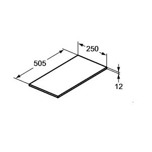 IDEAL Standard Adapto Vrchná doska 250 mm Lesklý biely lak