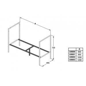 IDEAL Standard Adapto Konštrukcia pod umývadlo - podporný rám Hliník