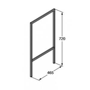 IDEAL Standard Adapto Konštrukcia pod umývadlo - podporné nohy (2 ks) Hliník U8599FY
