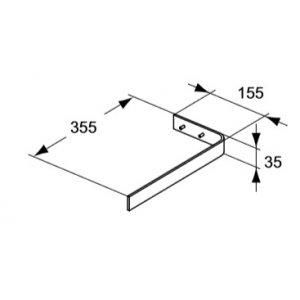 IDEAL Standard Adapto Držiak na uterák Bordo Chróm U8426AA