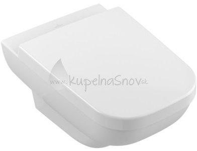 VÝPREDAJ Villeroy & Boch klozet bez vnútorného okraja Joyce 370x560 mm, keramika, 5607R2R1 WC + sedátko s poklopom, biela alpin ceramicplus