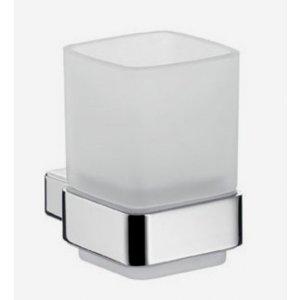 Emco Loft Držiak na sklený pohár, Satin krištáľ, nástenná verzia rôzne prevedenia