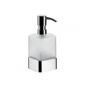 Emco Loft Dávkovač na tekuté mydlo, nádoba Satin Krištáľ, čerpací plastový typ, stojace rôzne prevedenia