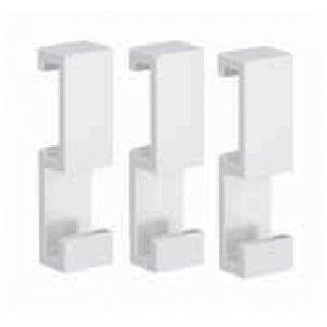 Emco Loft Zavesovacie háčiky- set 3 biela 0575 139 00