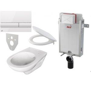 Alcaplast Set 5v1 Renovmodul AM115/1000 + WC misa RIMFLOW+ sedátko A604+ tlačítko M1710 + izolácia M91