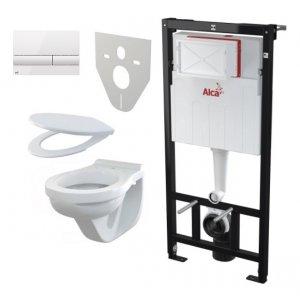 Alcaplast Set 5v1 Sadromodul AM101/1120 + WC misa+ sedátko A60+ tlačítko M1710 + izolácia M91