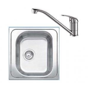 Blanco SET 02 Drez TIPO 45+batéria DARAS chróm drez: nerez/industrie/, batéria: chróm