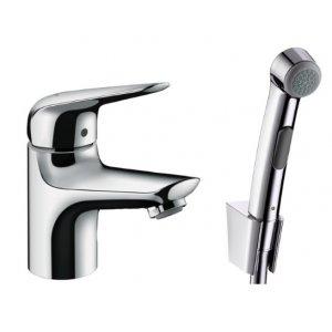 HANSGROHE Novus Páková umývadlová batéria 70 s ručnou sprchou Bidette a sprchovou hadicou 160 cm chróm 71144000