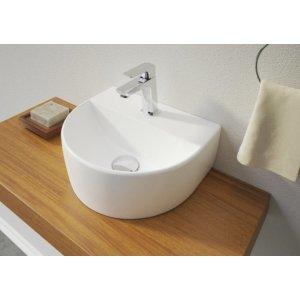 Aquatek Polkruhové keramické umývadielko 30,5x26 cm VICTOR