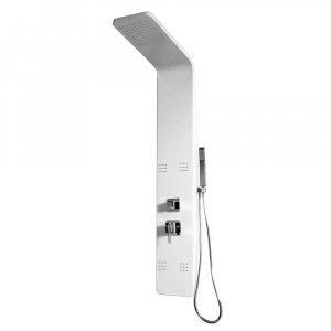 Aquatek PALMA Hydromasážny sprchový panel hliníkový mechanická batéria HPPALMAMB