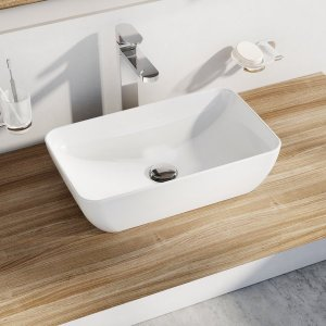 Ravak Uni Slim Umývadlo R biela, 500 x 310 x 125 mm XJX01150001