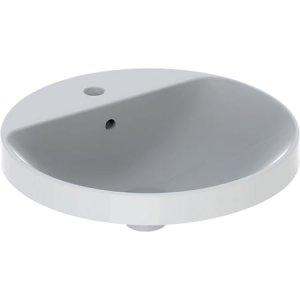 Geberit VariForm Zápustné umývadlo, okrúhle, s otvorom pre armatúru rôzne prevedenia, 48 cm
