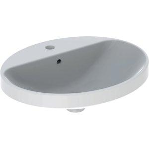 Geberit VariForm Zápustné umývadlo, oválne, s otvorom pre armatúru rôzne prevedenia, biela