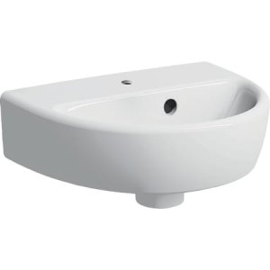 Geberit Selnova Malé umývadlo s asymetrickým prepadom  36 cm, biela 500.320.01.1