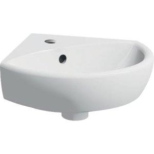 Geberit Selnova Rohové malé umývadlo rôzne prevedenia, biela